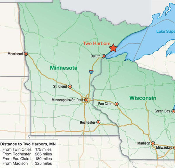 Map Of North Shore MN Submited Images